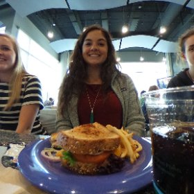 DMA students and advisors having lunch after @XtremeBeginnings #schooltocareer @WCPSS #theta360