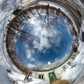 Montreal Maison Du Pressoir - Cité historia Hiver / Winter March / Mars 2015 10865 Rue du Pressoir, Montréal, QC H2B 2L1 Phone:(514) 850-4222  #theta360