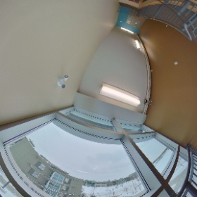 Residence Stairwell (view of Ambrose University)