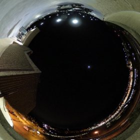 On the longest night of the year...Test shot with a new Ricoh Theta S spherical panoramic camera.  The location is the top deck of the Vienna Metro Station's north parking garage...I-66 below us. #theta360