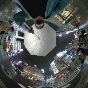Ginza Crossing, la esquina más famosa de Ginza, bajo la lluvia #JaponATB #theta360