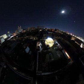 옥상 돔하우스 야경