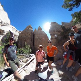 Tent Rocks hike with the Rental House Crew outside of Albuquerque. #tentrocks #theta360