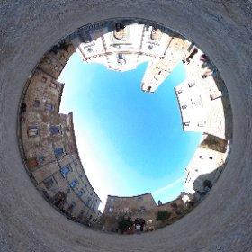 Piazza di San Donato (Civita di Bagnoregio, VT Italia) #theta360