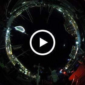 firework display in Portsmouth England to start christmas season at Gun Wharf Quays #theta360 #theta360uk