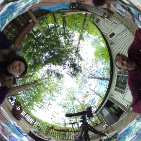 360 shot with a spider on the lens