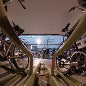 自転車を待つ駐輪場の気持ちでシータ。 #theta360