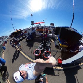 Hanging out behind CRP racing's pit during PWC GT/GTA/GT Cup race #1 #theta360