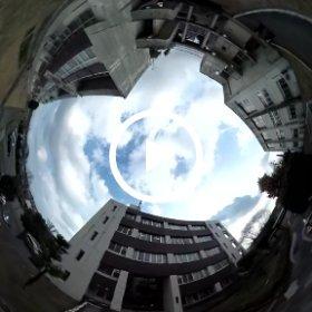熊本高専・熊本キャンパスを全天球カメラで空撮、5号棟(制御棟)前より。 #theta360
