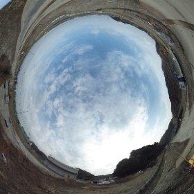 平成27年2月24日 薄磯の平場宅地予定地で撮影した全天球写真です