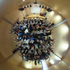 Foto esférica del GDG Kids en Candelaria, Tenerife #theta360