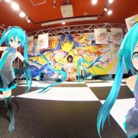 「RICOH THETA SC Type HATSUNE 」 でミクちゃんハーレムつくってみた\(^o^)/ #miku360 #theta360
