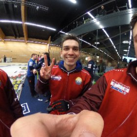 curling schweizermeisterschaft in flims - team genf #theta360 #theta360de