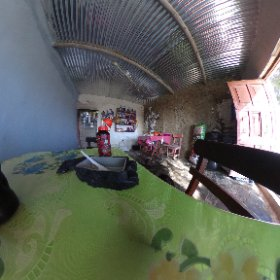 Restaurant in the desert. That's coffee in the Gatorade bottle.  #theta360