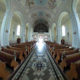 Suchowola, wnętrze kościoła Parafii Pw. Św. Apostołów Piotra i Pawła #theta360