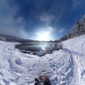 Premières neiges au Lac de Genin #theta360 #theta360fr