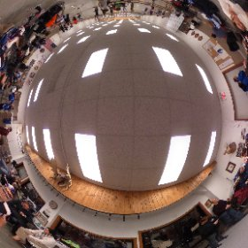 From the back of the room - IL Target Archery Association 2016 JOAD State Championship #ITAA #JOAD #Archery . Spin around 180 degrees to see the shooting line.  #theta360