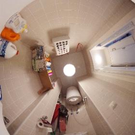 Cuarto de limpieza: Lavadora, Inodoro.