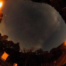 三段滝駐車場からの星空 #thetasc #theta360