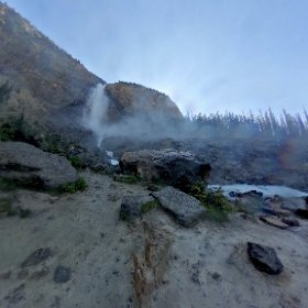 Takakkaw Falls, Yoho Valley, Yoho National Park. 360° view.