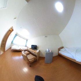 【ロジングはまなすⅡ】  実はツインルームもございます。 とても広〜いお部屋です。 函館観光の拠点としてご予約ください。  http://lodginghamanasu2.jp/  #theta360