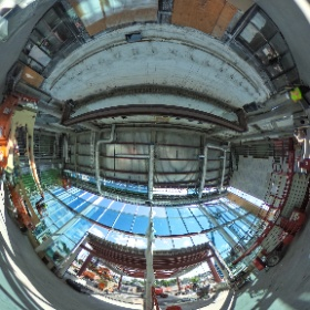 Inside the new Russell J. Salvatore Atrium at the Erie County Medical Center in Buffalo, NY #theta360