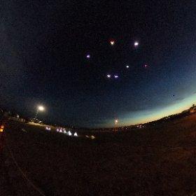 Kite festival  led lights #theta360