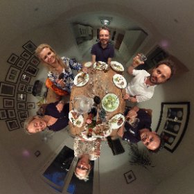 Dinner with friends #theta360 #theta360uk