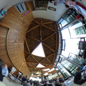 Inside the fabulous Forum building at Exeter University for Space:Exe space science and astronomy conference on March 17th 2019. #theta360