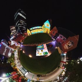 Christmas projections 360 image 2019 Xmas Light Trails in Perth CBD FREE every night till December - virtual tour + official map, video, program in https://lnkd.in/gX_aiXu #XmasLightTrailsPerth   #ChristmasLightTrailsPerth   #Firefire3d #theta360