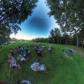 Shabbat in the garden with Rabbi Medwin at Temple Sholom in Monticello. #theta360