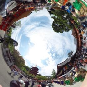 高幡不動尊(東京)の春季大祭  photo : 360度カメラ研究会(http://camera-360do.com/) by ほーりー