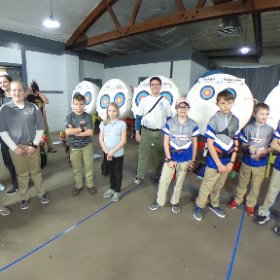 The 1pm line of the 2018 ITAA Indoor State JOAD Championship. #archery  #theta360