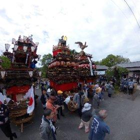 宗像神社改元奉祝祭❶(埼玉県大里郡寄居町) #theta360