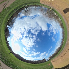 The sun came out on Bruntsfield Links #theta360