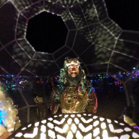 HYBYCOZO - Heart of Gold (at night) - Burning Man 2016 #theta360