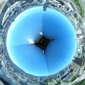 さっぽろテレビ塔からの撮影、4枚の画像を適当につなげただけ。 #theta360