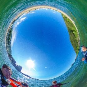 三瀬海水浴場!楽しい! #theta360
