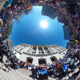 #Rally against #RFRA #Indy at the statehouse. Aprox. 3,000 showed up to march from monument circle. #theta360