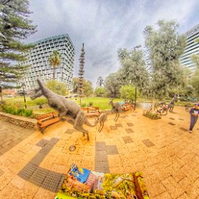 360 spherical kangaroos in Perth  Stirling Gardens Perth CBD abundant with lush gardens, paths, sculptures, meeting places, SM hub https://linkfox.io/67mAi BEST HASHTAGS  #StirlingGardensWA  #PerthCBD   #PerthCity  #VisitPerthWA   #butterfly3d #theta360
