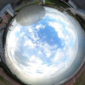 千葉県袖ケ浦海浜公園の展望台から。 www.sodegaura-kaihinkoen.jp #アクアラインイースト #theta360