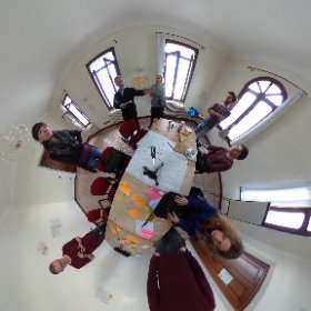 "Preparing final presentation for the ""Senses"" seminar on the island of San Servolo"