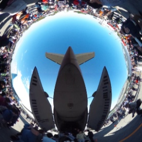 次はC-1輸送機!(^-^)/ #入間航空祭 #RICOH #THETA  #theta360
