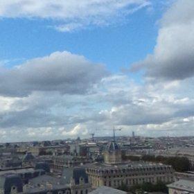 Paris ノートルダム寺院の上から 見渡す市内 #theta360