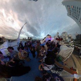 東京湾納涼船 #theta360