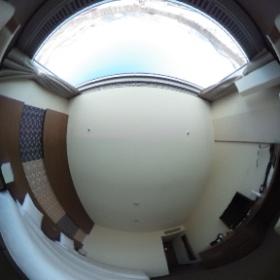 客室「スーペリアツイン」冬景色 #theta360