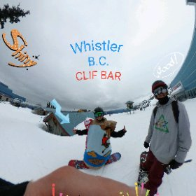 Whistler CLIF BAR found on the mountain summit by   www.ThisIsMeInVR.com   360 Image so look around.