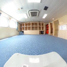 新「うみのこ」、宿泊室はこんな感じ! #theta360