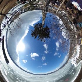 #諏訪湖 #御神渡り #theta360