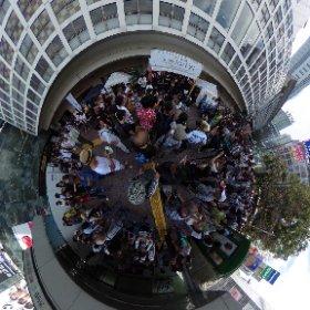 渋谷はいつも混んでますな。何やらイベントがある模様 #渋谷ブンチャカ #theta360